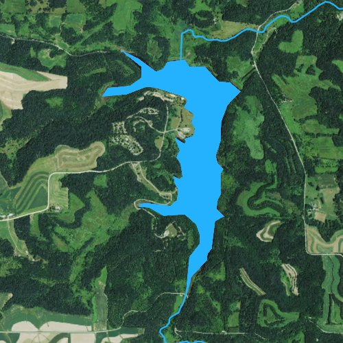 Fly fishing map for Black Hawk Lake, Wisconsin