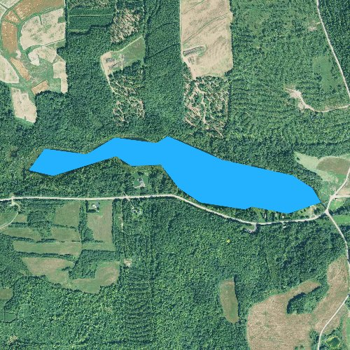 Fly fishing map for Black Lake, Maine