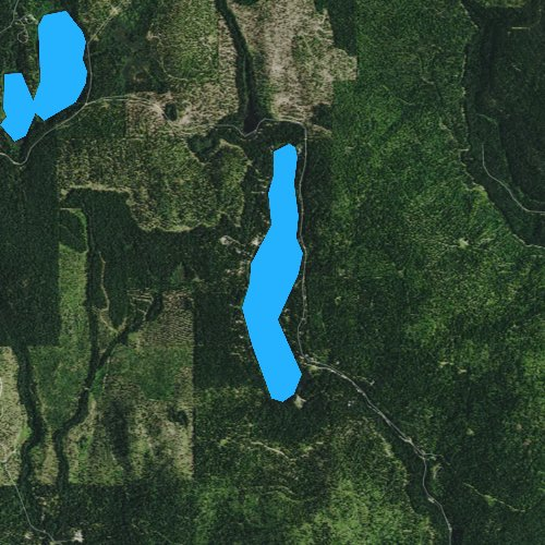 Fly fishing map for Black Lake, Washington