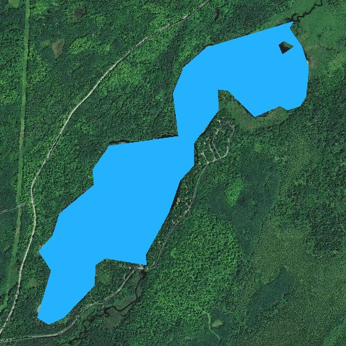 Fly fishing map for Black Lake, Wisconsin