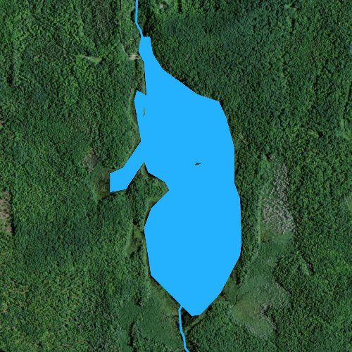 Fly fishing map for Black River Lake, Michigan