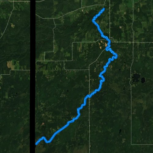 Fly fishing map for Black River, Wisconsin