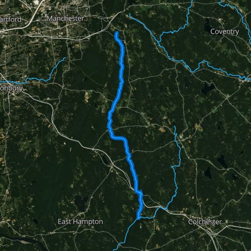 Fly fishing map for Blackledge River, Connecticut