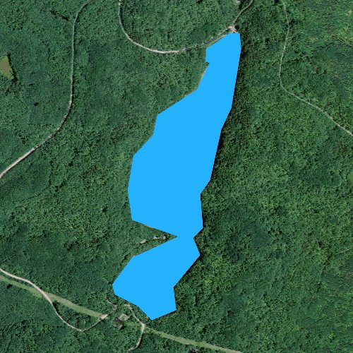 Fly fishing map for Bladder Lake, Wisconsin