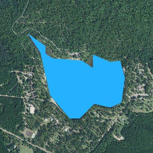 Fly fishing map for Blue Lake, Alabama