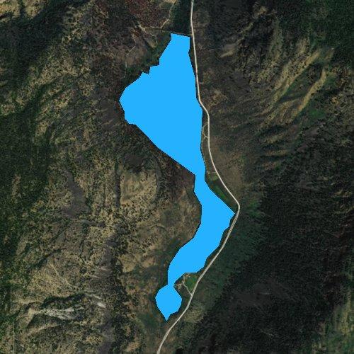 Fly fishing map for Blue Lake, Washington