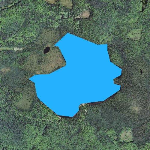 Fly fishing map for Bob Lake, Michigan