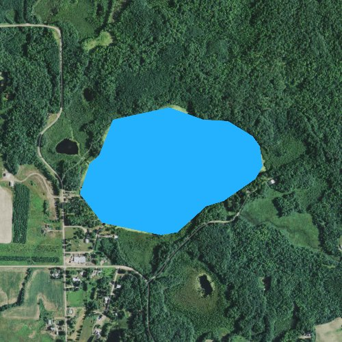 Fly fishing map for Bob Lake, Wisconsin