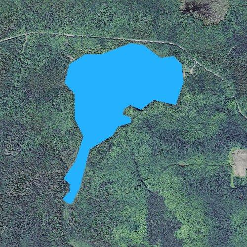 Fly fishing map for Bobcat Lake, Michigan