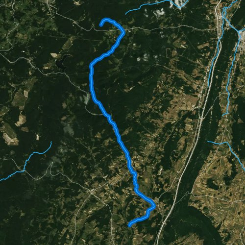 Fly fishing map for Bobs Creek, Pennsylvania