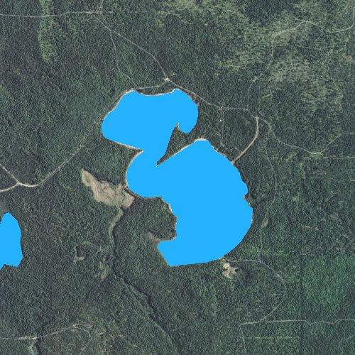 Fly fishing map for Bodi Lake, Michigan