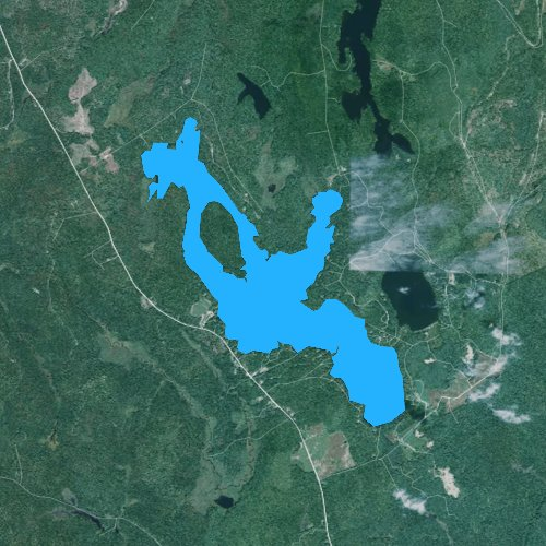Fly fishing map for Bog Lake, Maine