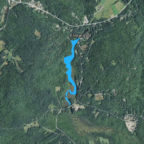 Fly fishing map for Bog Pond, New Hampshire