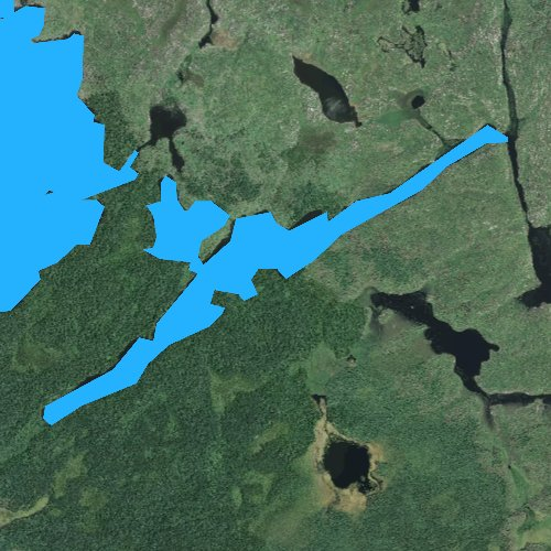 Fly fishing map for Boga Lake, Minnesota