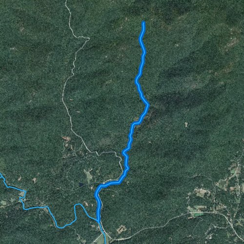 Fly fishing map for Boggs Creek, Georgia