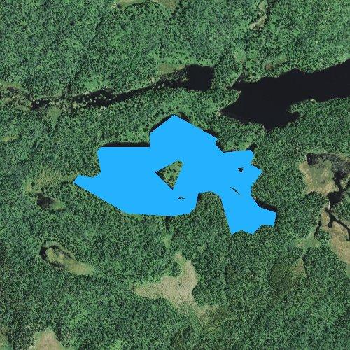 Fly fishing map for Bologna Lake, Minnesota