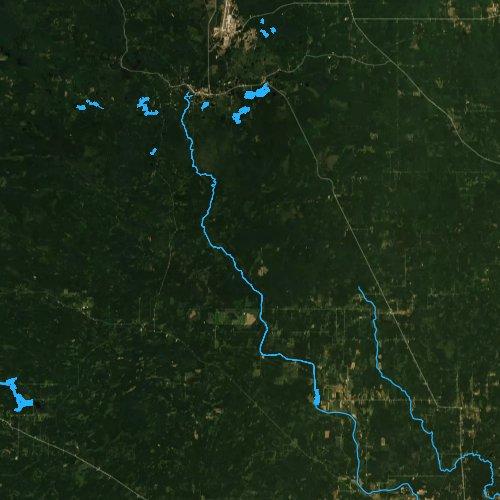 Fly fishing map for Boney Falls Basin, Michigan