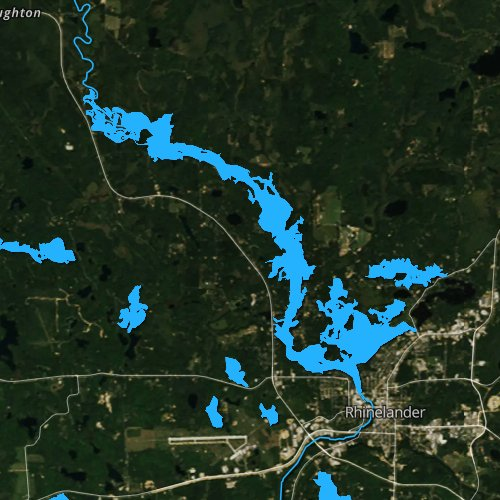 Fly fishing map for Boom Lake, Wisconsin