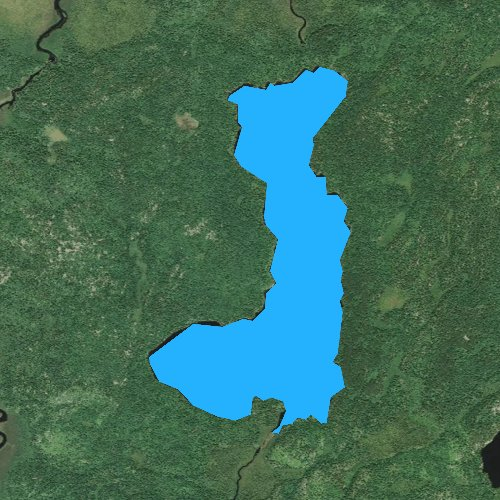 Fly fishing map for Bootleg Lake, Minnesota