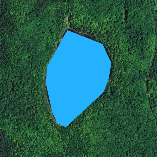 Fly fishing map for Bose Lake, Wisconsin