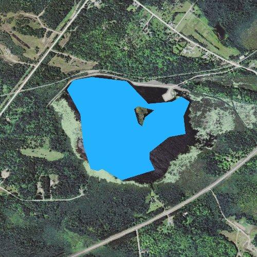 Fly fishing map for Boston Lake, Michigan
