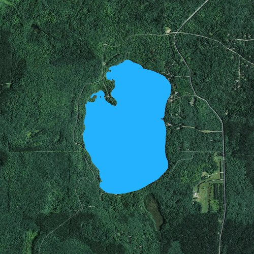 Fly fishing map for Boulder Lake: Langlade, Wisconsin
