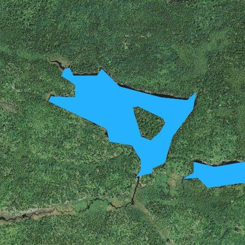 Fly fishing map for Boulder Lake, Minnesota