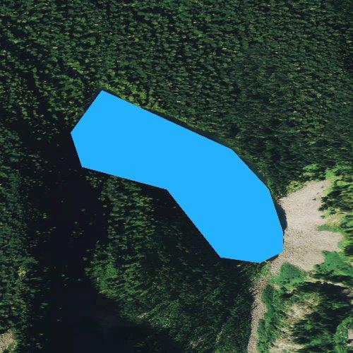 Fly fishing map for Boulder Lake, Washington