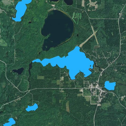 Fly fishing map for Boulder Lake, Wisconsin