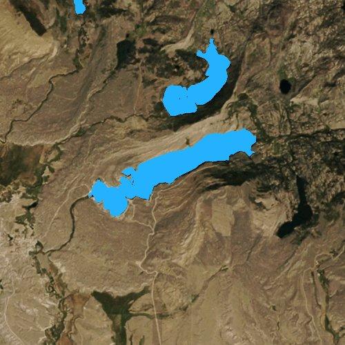 Fly fishing map for Boulder Lake, Wyoming