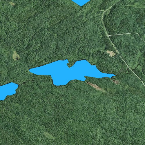 Fly fishing map for Bower Trout Lake, Minnesota