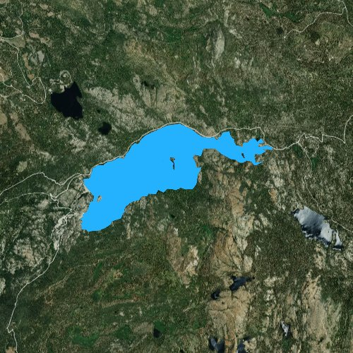Fly fishing map for Bowman Lake, California