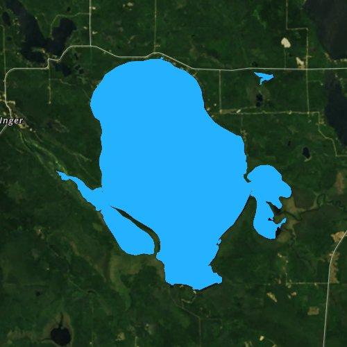 Fly fishing map for Bowstring Lake, Minnesota