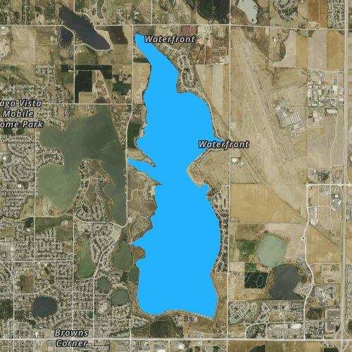 Fly fishing map for Boyd Lake, Colorado
