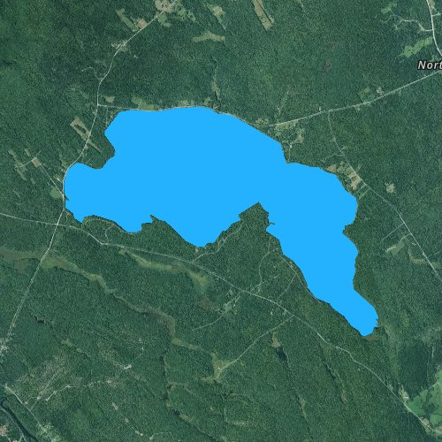 Fly fishing map for Boyden Lake, Maine