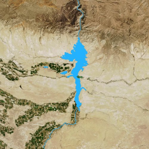 Fly fishing map for Boysen Reservoir, Wyoming