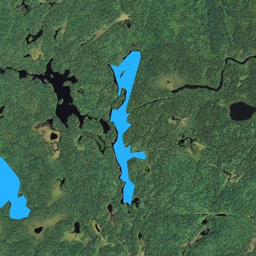 Fly fishing map for Boze Lake, Minnesota