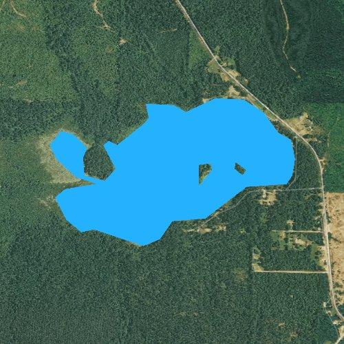 Fly fishing map for Bragg Lake, Arkansas