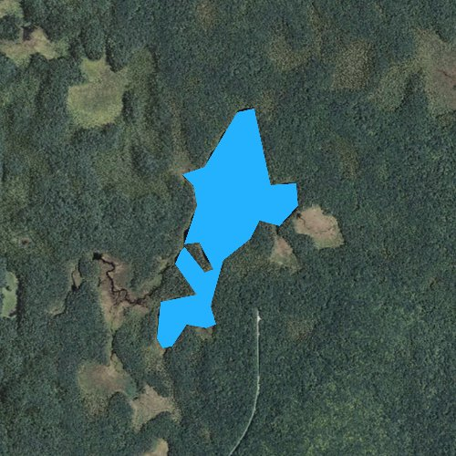 Fly fishing map for Branch Pond, Vermont