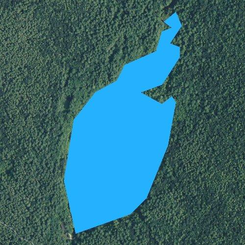 Fly fishing map for Breakheart Pond, Rhode Island