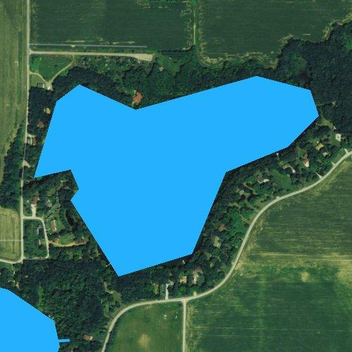 Fly fishing map for Brekk Lake, Wisconsin