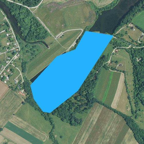 Fly fishing map for Bridgeport Reservoir, Pennsylvania