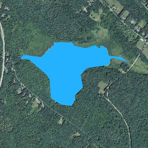 Fly fishing map for Brindle Pond, New Hampshire