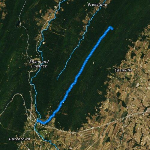 Fly fishing map for Broad Run, Pennsylvania