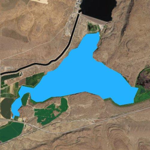 Fly fishing map for Brook Lake, Washington