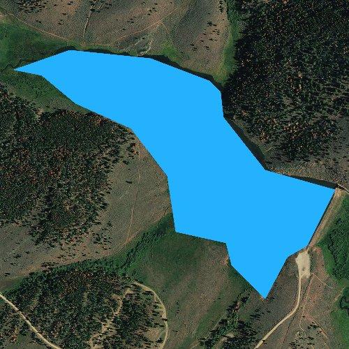 Fly fishing map for Browne Lake, Utah