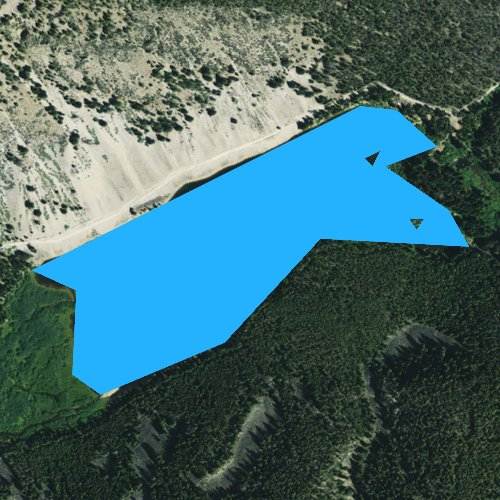 Fly fishing map for Brownes Lake, Montana