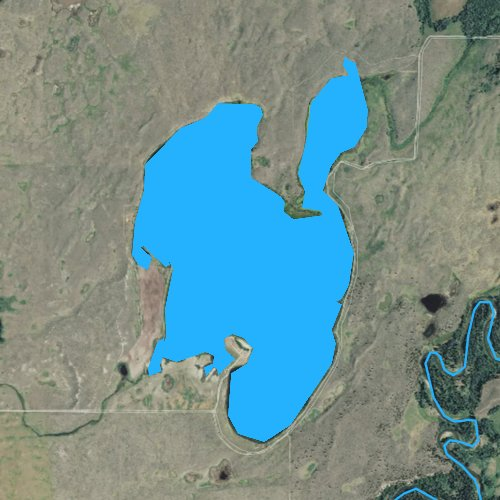 Fly fishing map for Browns Lake, Montana