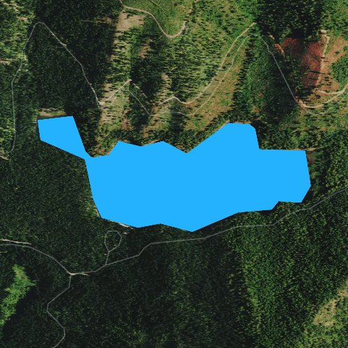 Fly fishing map for Browns Lake, Washington