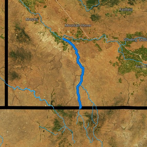 Fly fishing map for Bruneau River, Idaho